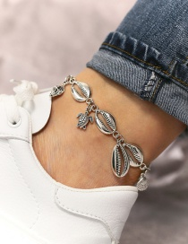 Fashion Silver Beach Metal Shell Starfish Anklet