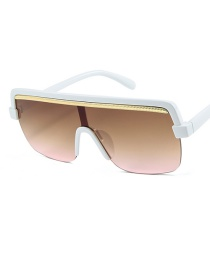 Fashion White Box Tea Powder Sunglasses