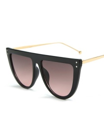 Fashion Black Frame Green Powder Sunglasses