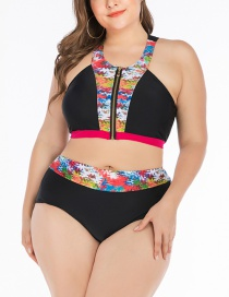 Fashion Black Big Cup Swimsuit