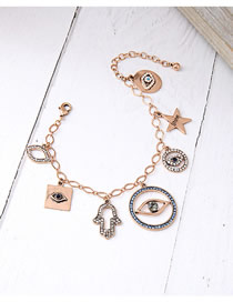 Fashion Gold Eye Star Bracelet