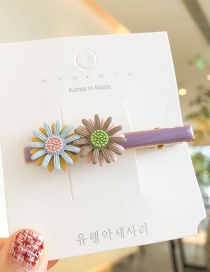 Fashion Purple Cherry Blossom: Small Daisies: Hairpin