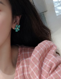 Fashion Fashion Green Flower Earrings