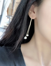 Fashion Main Color (gold) Imitation Pearl Tassel Earrings