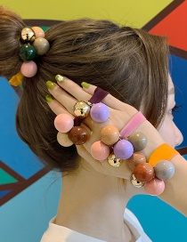 Fashion Yellow Rope Ball Hair Ring