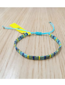 Fashion Blue Imported Bead Woven Bracelet