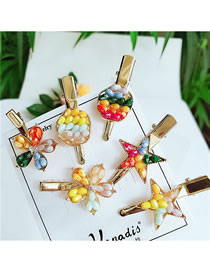 Fashion Combination Alloy Geometry Hair Clip Combination