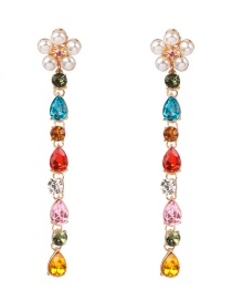 Fashion Color Pearl-studded Drop Earrings