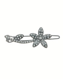 Fashion Black Plum Blossoms With Diamond Hair Clips