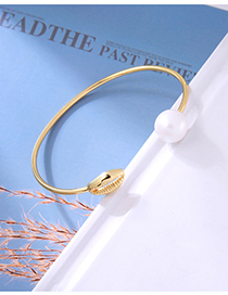 Fashion Gold Open Shell Pearl Bracelet