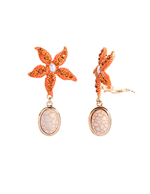 Fashion Yellow Starfish Earrings