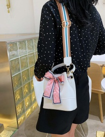 Fashion White Bow Tie Shoulder Bag