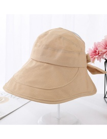 Fashion Khaki Big Cockroach Tongue Bow Sunscreen Top Hat