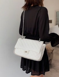 Fashion White Grids Pattern Bag