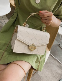 Fashion White Car Line Flower Shoulder Slung Handbag