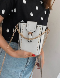Fashion White Embroidery Chain Single Shoulder Messenger Bag