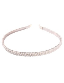 Fashion Two Rows Of Pearls (champagne) Alloy Double Row Pearl Headband