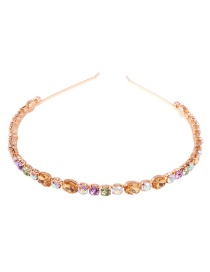 Fashion Colored Small Diamond Alloy Diamond Headband