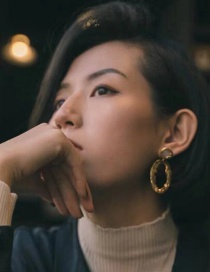 Fashion Oval Alloy Irregular Geometric Earrings