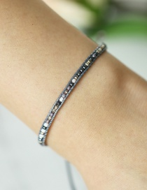 Fashion Gray Beaded Bracelet