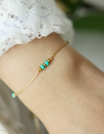 Fashion Gold Beaded Beaded Anklet