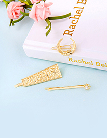 Fashion Gold Geometric Moon Hair Clip Set