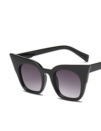 Fashion Black Frame Gradient Gray (adult Version) Parent-child Cat Eye Sunglasses