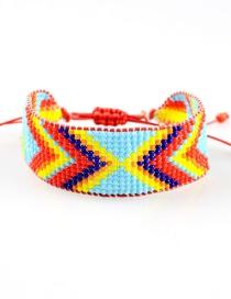 Fashion Arrow Type Woven Rice Beads Drawstring Bracelet