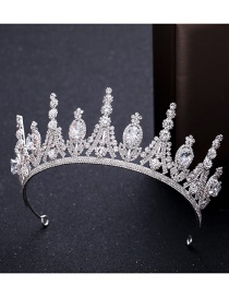 Fashion Silver Zircon Crown