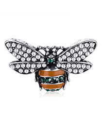 Fashion Color Pearl Bee Insect Brooch