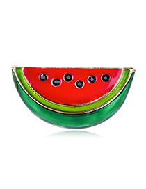 Fashion Color Cartoon Dripping Watermelon Brooch