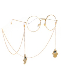 Fashion Gold Non-slip Metal Diamondd Palm Eye Glasses Chain