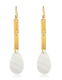 Fashion Real Gold Alloy Shell Drop Earrings