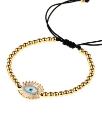 Fashion Gold Eye Micro-inlaid Zircon Pull Steel Ball Bracelet