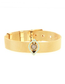 Fashion Gold Eye Micro-inlaid Zircon Plated Gold Color Bracelet