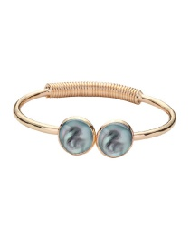 Fashion Golden + Xiaguang Double Round Mermaid Bracelet
