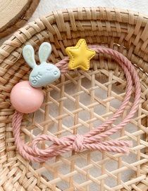 Fashion Pink Tie/rope Cartoon Bunny Rubber Band