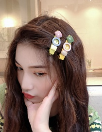Fashion Yellow Background Color Matching Hair Clip