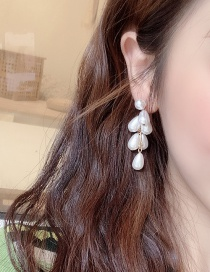 Fashion Main Color (imitation Pearl Earrings) 925 Silver Needle Imitation Pearl Earrings