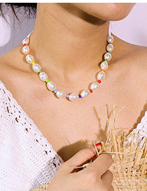 Fashion Color Oval Pearl Necklace