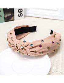 Fashion Lotus Color Cloth Knotted Color Diamond Headband