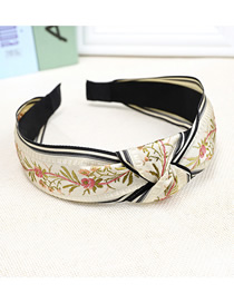 Fashion White Floral Wide-brimmed Headband