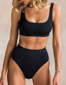 Fashion Black Pit High Waist Bikini