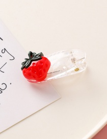 Fashion Strawberry Transparent White Small Flower: Vegetable: Fruit: Hair Clip