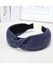 Fashion Navy Blue Woven Headband