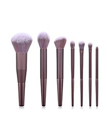 Fashion Purple 7 Stick Makeup Brush
