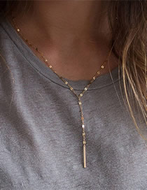 Fashion Gold Stainless Steel Chain Gold-plated Necklace