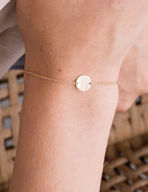 Fashion Gold Round Stainless Steel Gold-plated Bracelet