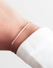 Fashion Rose Gold Geometric Stainless Steel Bracelet