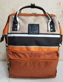 Fashion Orange Stripes Striped Backpack